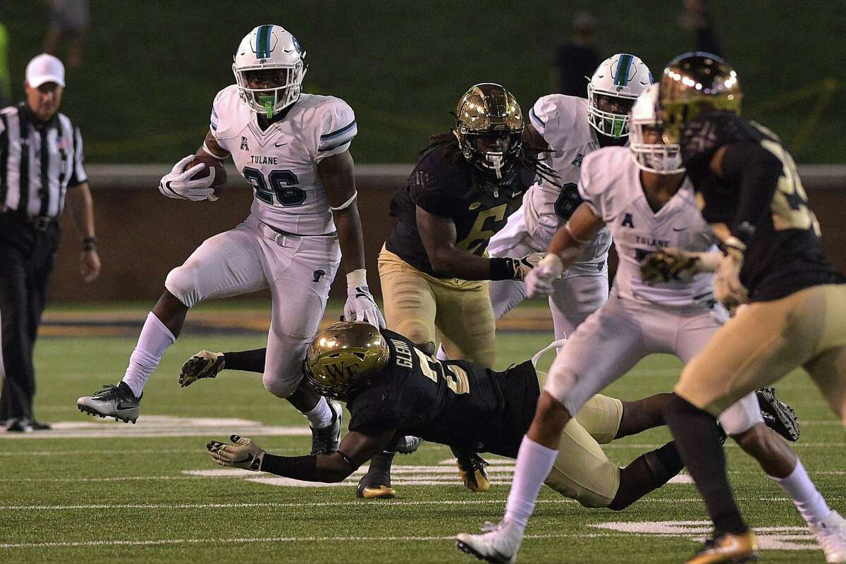 12. Tulane (1-2, 0-1 AAC): The Green Wave lost 28-21 to Navy on Saturday in a heartbreaker after going toe-to-toe with one of the top teams in the AAC. Tulane's two losses this season have come by seven points or less to two teams (Navy and Wake Forest) that are still undefeated, which shows that first-year coach Willie Fritz is making progress with his young team. But the Green Wave's struggles on offense came back to bite them once again on Saturday night, and while Tulane has proven it has one of the top defenses in the conference, inconsistency on offense has held the team back from pulling off two possible upsets early in the season. - Will Guillory, The Times-Picayune