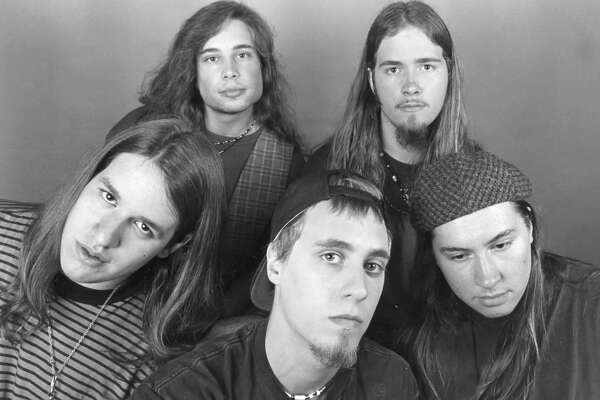 Blind Addiction, front, from left, Ryan Evans, Eric Janetsky, Phil Smith. Back, from left, Troy Pomranky, Greg Lewis. August 1993