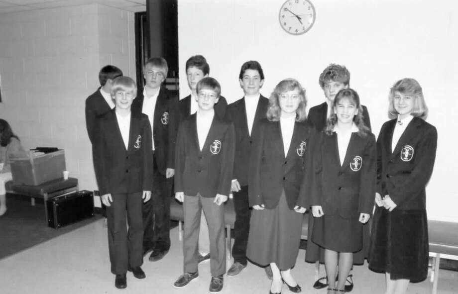 The best of 7th grade musicians join the Midland Concert Band for a concert. 1987 Photo: Daily News File Photo