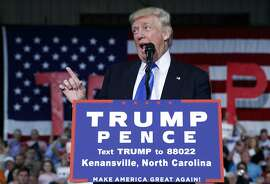 Republican presidential candidate Donald Trump speaks during a campaign rally, Tuesday, Sept. 20, 2016, in Kenansville, N.C. (AP Photo/ Evan Vucci)