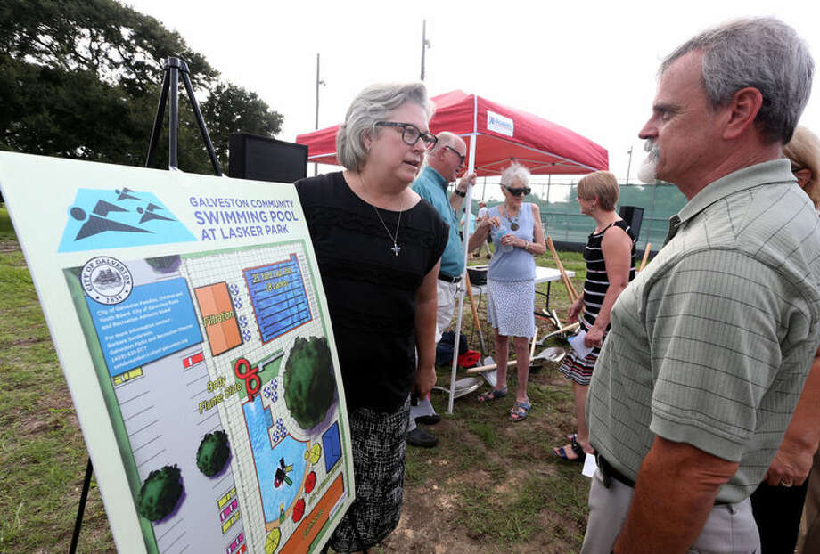 Galveston's parks and recreation director Barbara Sanderson at the groundbreaking for the island's first community swimming pool, Tuesday, Sept. 21, 2016. >>Click to see Texas' best swimming spots. Photo: Jennifer Reynolds/The Daily News