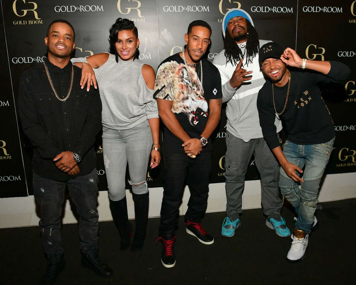 Larenz Tate, Laura Govan, Ludacris, Marshawn Lynch and Terrence Jenkins attend LudaDay Weekend at Gold Room on September 2, 2016 in Atlanta, Georgia.