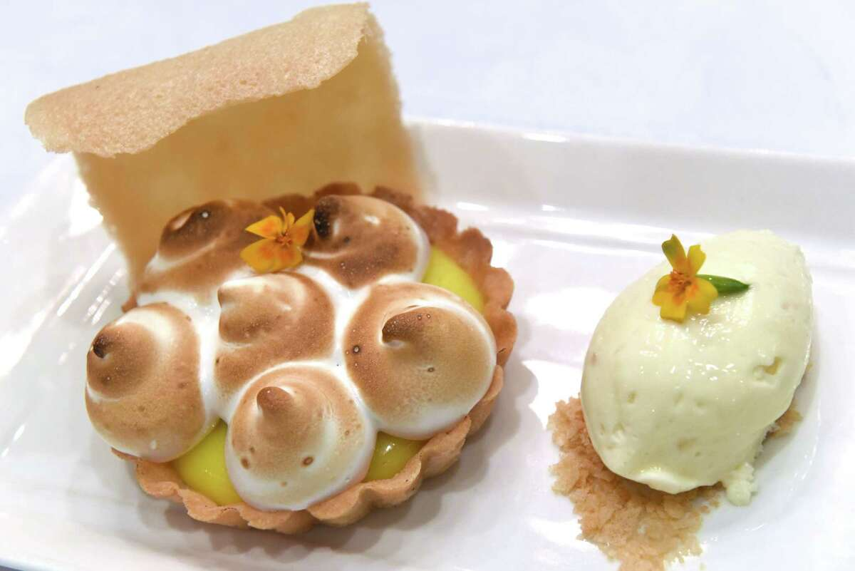 Lemon curd tart with vanilla ice cream at Yono's on Wednesday Sept. 14, 2016 in Albany, N.Y. (Michael P. Farrell/Times Union)