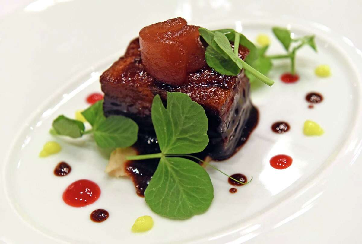 Braised pork belly at Yono's on Wednesday Sept. 14, 2016 in Albany, N.Y. (Michael P. Farrell/Times Union)
