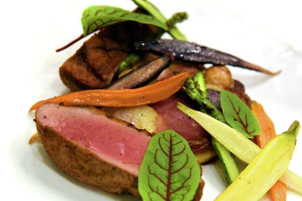 Pan roasted duck breast at Yono's on Wednesday Sept. 14, 2016 in Albany, N.Y. (Michael P. Farrell/Times Union)