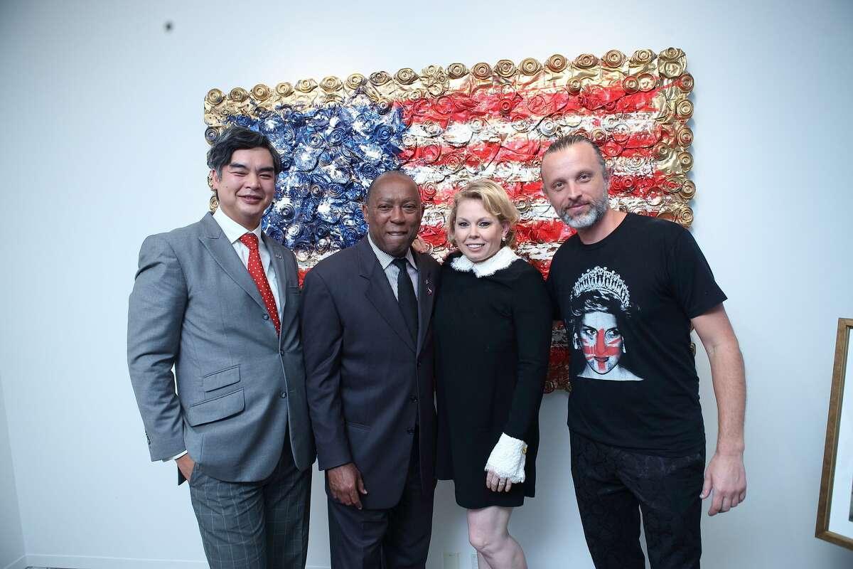 Sujiro Seam, Mayor Sylvester Turner, Tammy Greene Dowe, and Sebastien Boileau