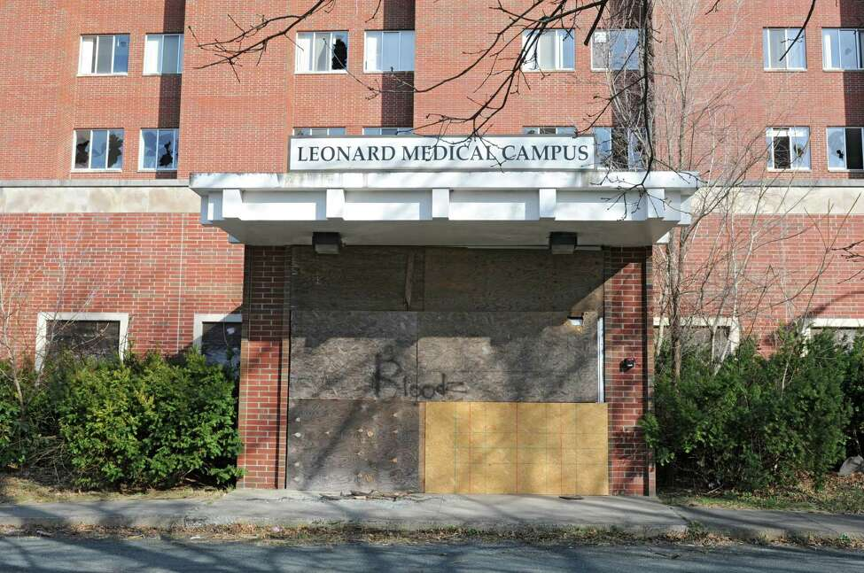 Exterior of the old Leonard Hospital site on Monday, April 8, 2013 in Troy, N.Y. (Lori Van Buren / Times Union)