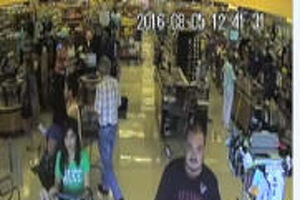 Authorities are searching for a woman and two men suspected of stealing a car on Aug. 5, 2016 from a supermarket parking lot in the 15800 block of Champions Forest Drive in north Harris County. (Harris County Sheriff's Office)