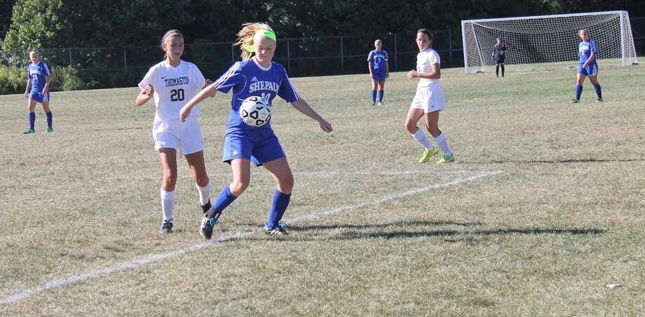 Abigail Gorra is part of a young Shepaug soccer team that's shown steady improvement in the early part of this season. Photo: John Nestor /The Spectrum
