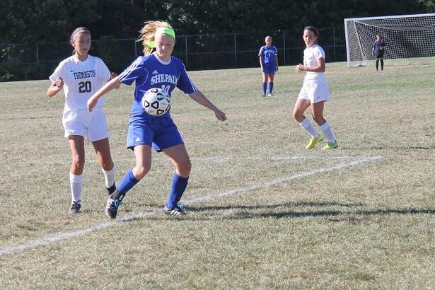 Abigail Gorra is part of a young Shepaug soccer team that's shown steady improvement in the early part of this season.