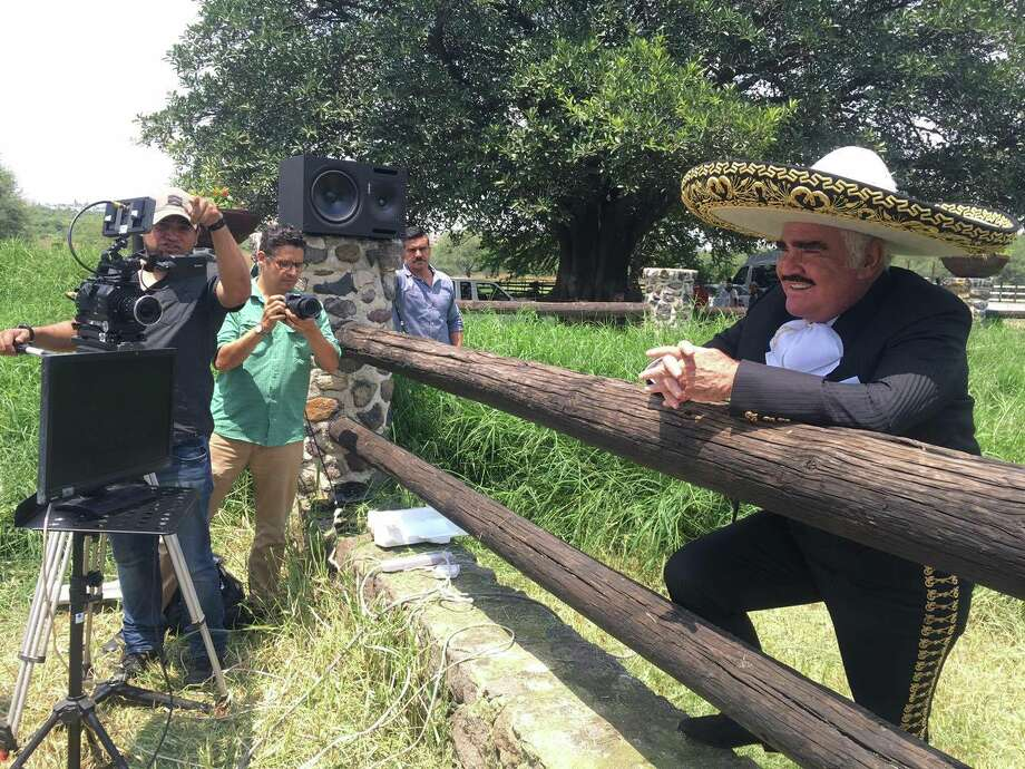 Legendary Mexican musician Vicente Fernández worked with the Latino Victory Project this month to release a corrido and music video directed by San Antonio's Bauhaus Media Group in support of Hillary Clinton for U.S. President. Photo: Bauhaus Media Group