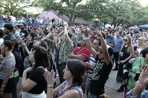 Fans cheer the Bright Light Social Hour at the 2016 Maverick Music Festival.