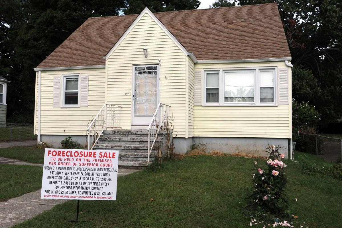 Foreclosure at 102 Springdale St., in Bridgeport, Conn. Sept. 20, 2016.