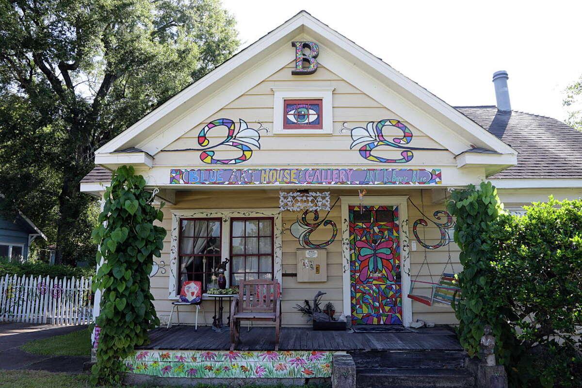 Bonnie Blue's Blue House & Art Gallery Sept. 21, 2016, in Houston.