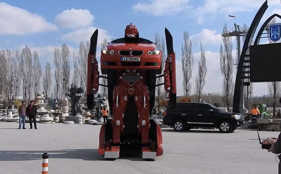 Someone created a functioning Transformer out of a BMW car
