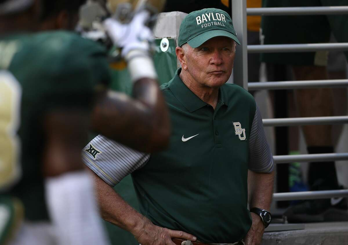 WACO, TX - SEPTEMBER 02: Interim head coach Jim Grobe of the Baylor Bears before a game against the Northwestern State Demons at McLane Stadium on September 2, 2016 in Waco, Texas. (Photo by Ronald Martinez/Getty Images)