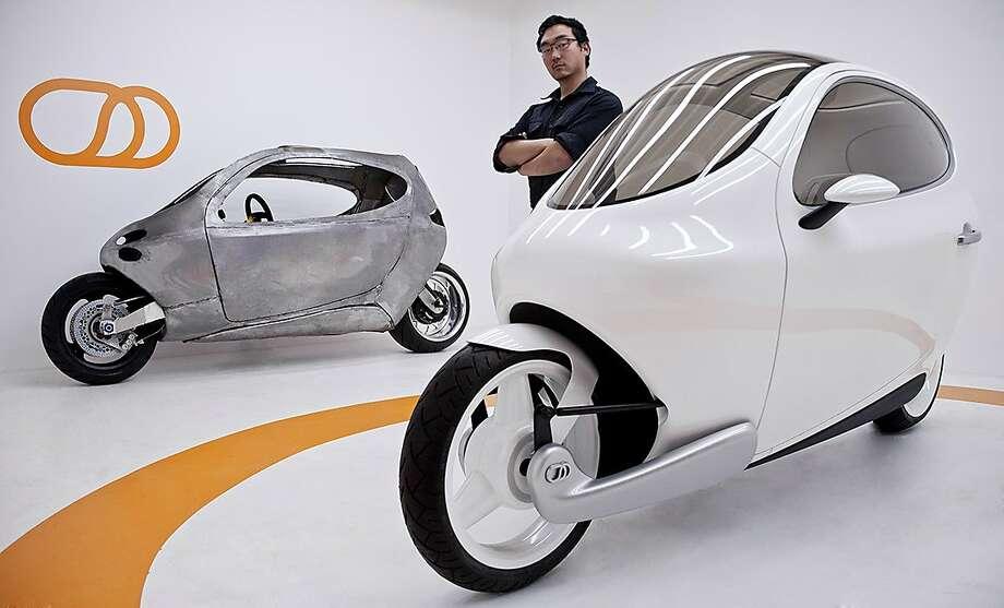 Lit Motors has a two-wheel car that maneuvers like a motorcycle. Photo: Lit Motors