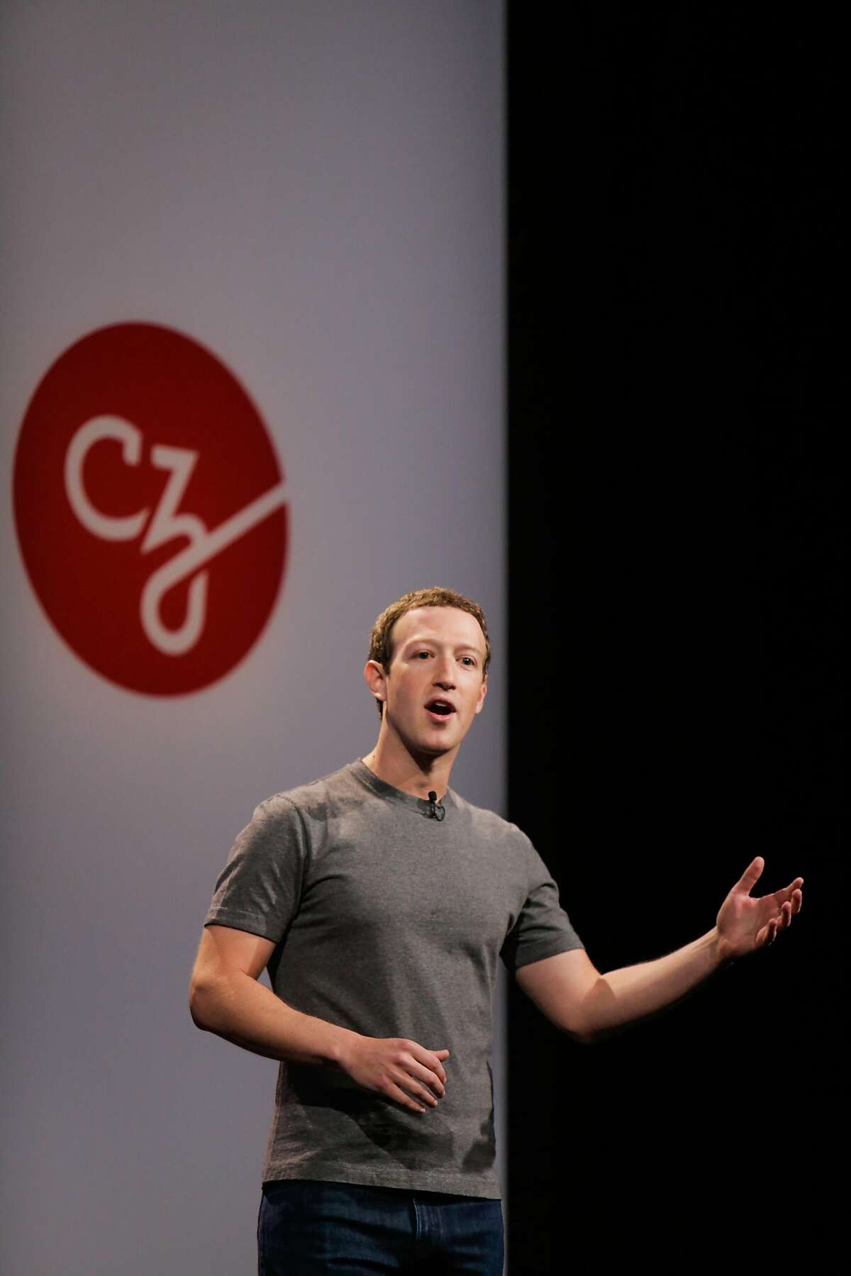 Facebook CEO and founder Mark Zuckerberg announced a new initiative to fund disease-prevention research, at the Rutter center at UCSF in San Francisco on Sept. 21, 2016.