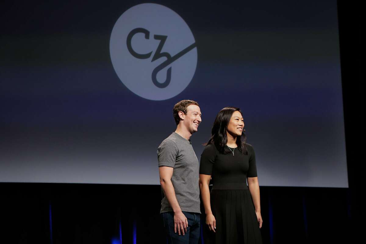 Facebook founder and CEO Mark Zuckerberg (left) and his wife Dr.Priscilla Chan (right) give their closing remarks at an announcement for the new Chan-Zuckerberg initiative to fund disease-prevention research, at the Rutter center at UCSF, in San Francisco, California, on Wednesday, Sept. 21, 2016.