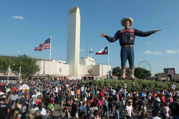 Big Tex presides over the State Fair of Texas, set for Sept. 30-Oct. 23 this year in Dallas.