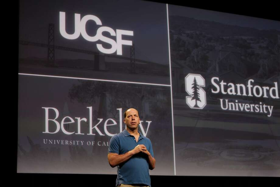 Stephen Quake, professor of bioengineering and of applied physics at Stanford, speaking during an announcement of the new Chan-Zuckerberg initiative to fund disease-prevention research, at the Rutter center at UCSF, in San Francisco, California, on Wednesday, Sept. 21, 2016. Photo: Gabrielle Lurie, The Chronicle