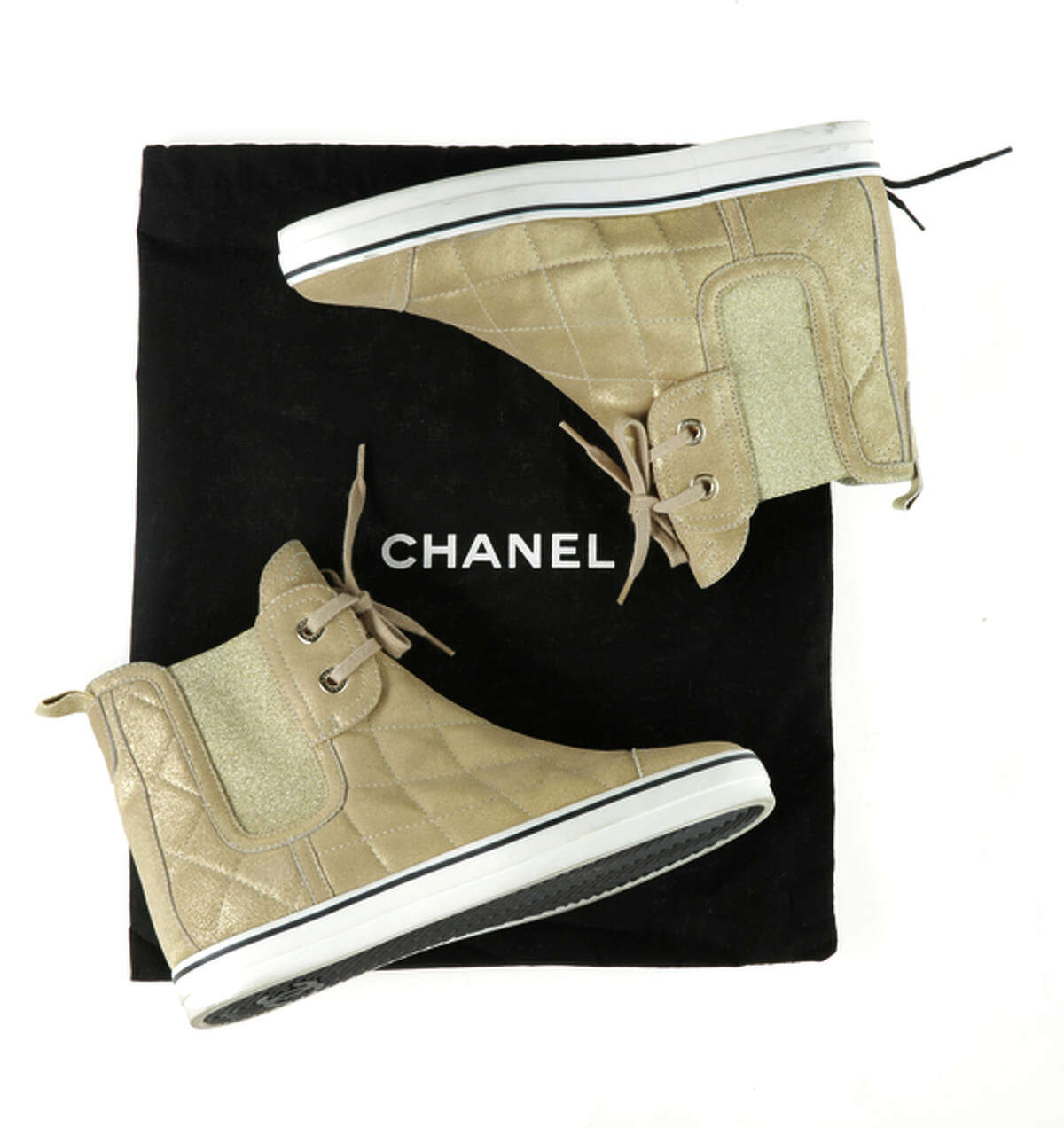 Kimberly Chun's Chanel high-tops from San Francisco Premium Outlets.