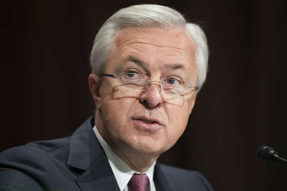 Wells Fargo CEO John Stumpf testifies about the company opening unauthorized accounts under customers' names at a Senate Banking, Housing and Urban Affairs hearing on Tuesday, Sept. 20, 2016 in Washington, D.C. (Tom Williams/CQ Roll Call/Newscom/Zuma Press/TNS)