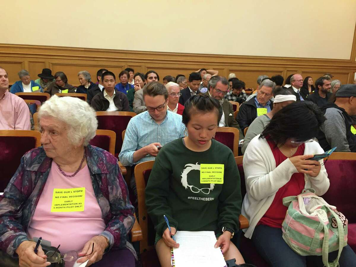60 residents and business owners from the Taraval Street neighborhood expressed their concerns to the MTA Board in a meeting on Tuesday. Despite community concerns, the MTA Board voted in favor of a new plan to increase traffic safety on Muni's L Taraval.