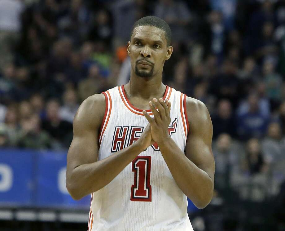 FILE - In this Feb. 3, 2016, file photo, Miami Heat forward Chris Bosh (1) reacts to a call during the second half of an NBA basketball game against the Dallas Mavericks, in Dallas. Bosh was dealing with more than one blood clot earlier this year, and said Wednesday, Sept. 21, 2016,  that he felt written off when Miami Heat team doctors advised him that the situation would likely be career-ending. (AP Photo/LM Otero, File) Photo: LM Otero, Associated Press
