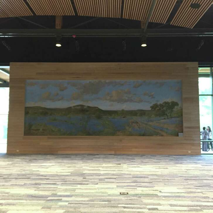 """Spring Scene of Texas Hill Country"" can now be admired in its new home by visitors to the Mays Family Center, a new $15 million exhibition and event space at the Witte."