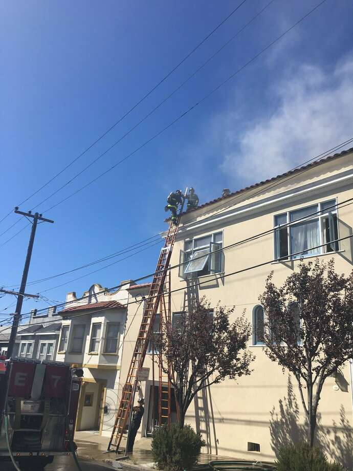 A two-alarm fire broke out Wednesday in a building in San Francisco's Potrero Hill neighborhood. Photo: San Francisco Fire Department / /