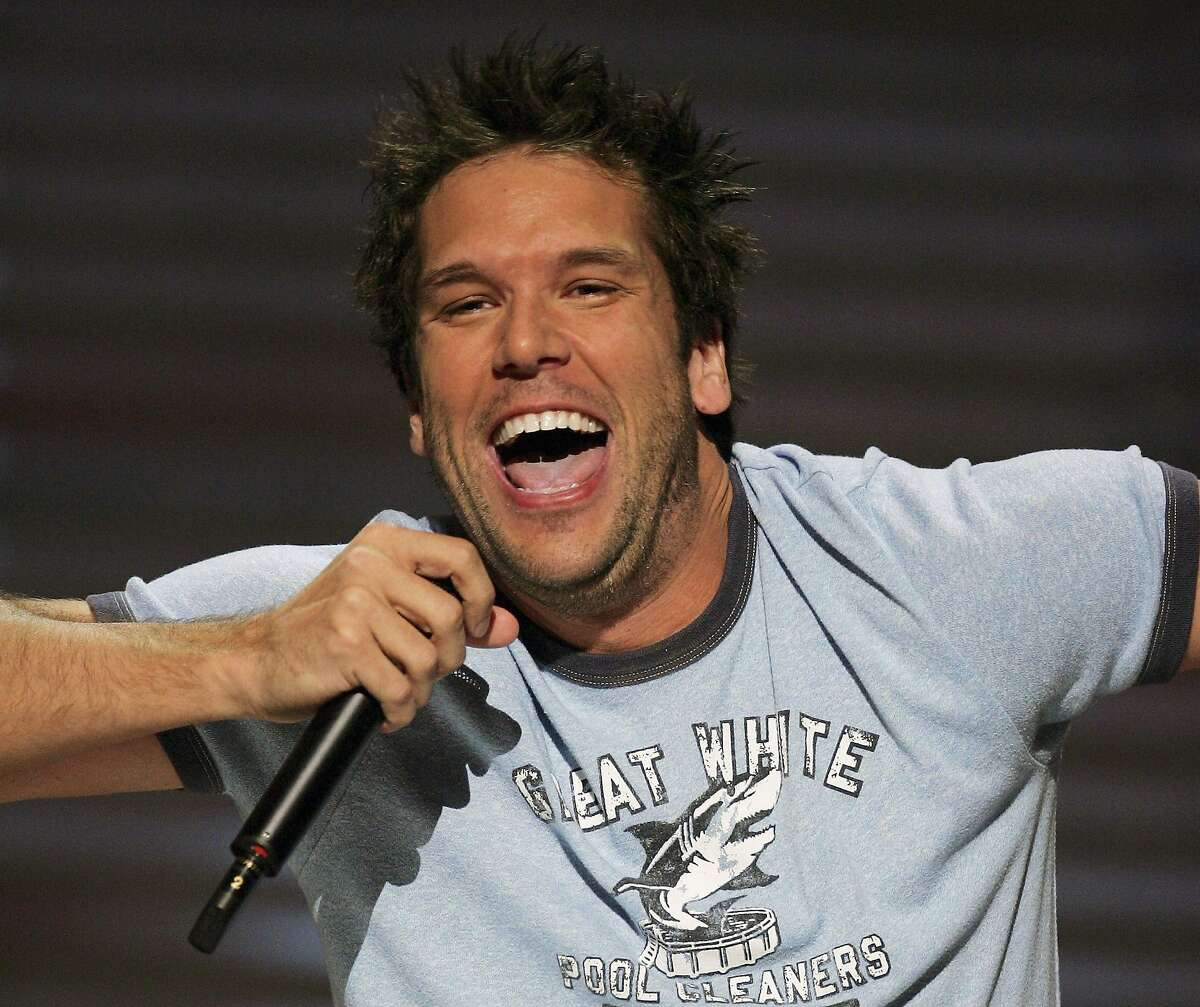 LAS VEGAS - JULY 03: Comedian Dane Cook performs at the House of Blues inside the Mandalay Bay Resort & Casino July 3, 2005 in Las Vegas, Nevada. Comedy Central is shooting the television network's first original stand-up film,