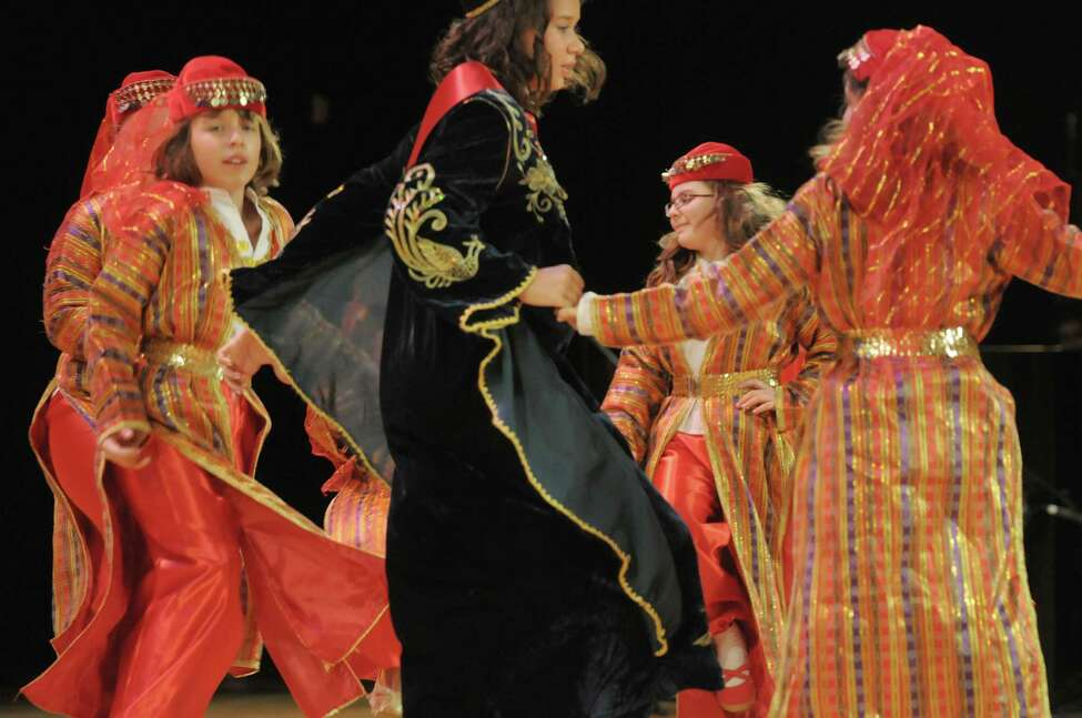 Members of the Turkish Cultural Center of Albany folk dance group perform at the Festival of Nations at the Empire State Plaza Convention Center on Sunday, Oct. 28, 2012 in Albany, NY. (Paul Buckowski / Times Union)