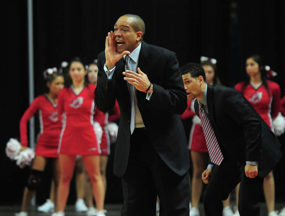 Fairfield men's basketball coach Sydney Johnson will be joined by former coach Ed Cooley, now at Providence, for an hour of hoops talk on Oct. 5 on the Fairfield campus. Photo: Christian Abraham / Christian Abraham / Connecticut Post