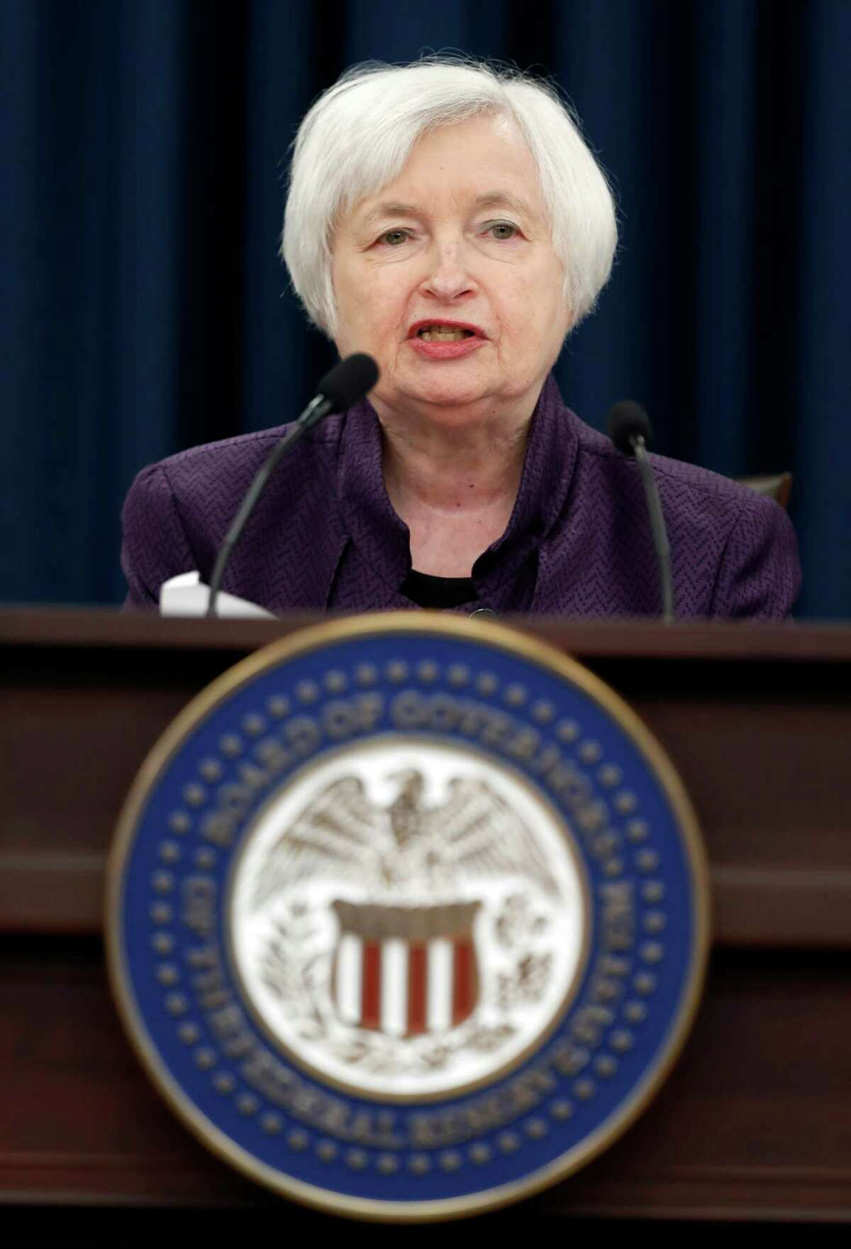 Federal Reserve Board Chair Janet Yellen speaks during a news conference on the Federal Reserve's monetary policy, Wednesday, Sept. 21, 2016, in Washington. (AP Photo/Alex Brandon)