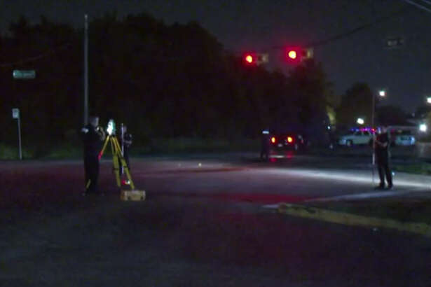 A woman died early Thursday morning in a traffic crash when a suspected drunk driver ran a red light and slammed into her in north Harris County