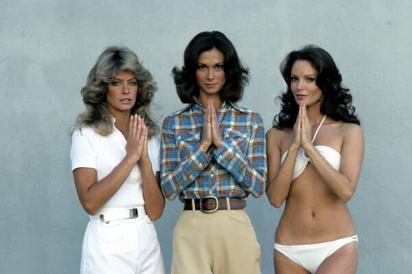 UNITED STATES - JUNE 15:  CHARLIE'S ANGELS - AD Gallery - 6/15/76 Farrah Fawcett, Kate Jackson, Jaclyn Smith  (Photo by ABC Photo Archives/ABC via Getty Images)