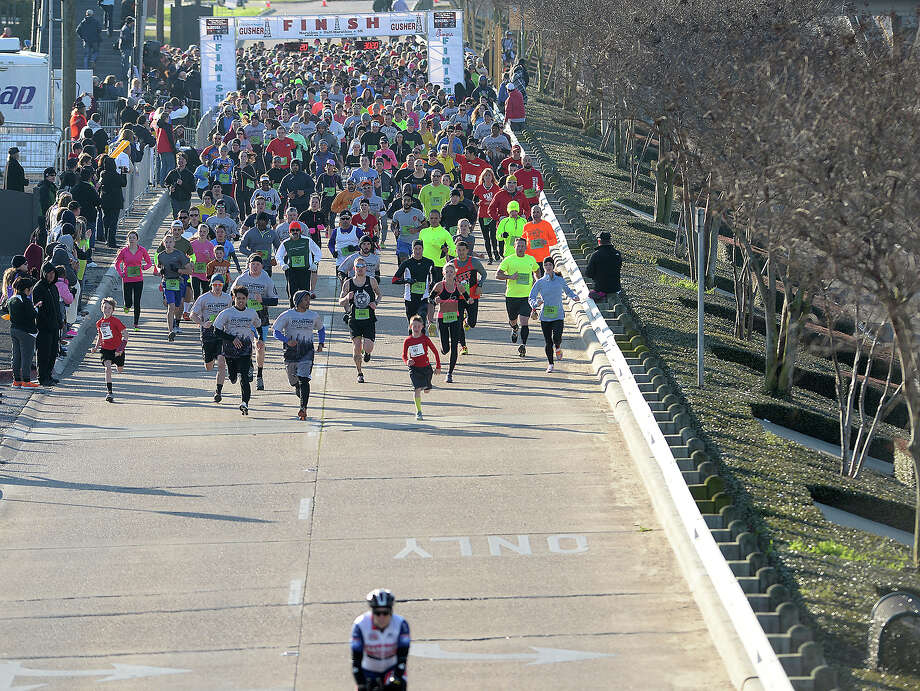 5 THINGS TO KNOW ABOUT THE GUSHER MARATHONRegistration for the eighth annual Gusher Marathon began Jan. 10. The marathon, half marathon, 5K and various fitness challenges will take place March 4, 2017 at Lamar University. Keep clicking to find out five ways you can participate in the Gusher — with some suggestions that don't even require running.  Photo: Kim Brent / Beaumont Enterprise