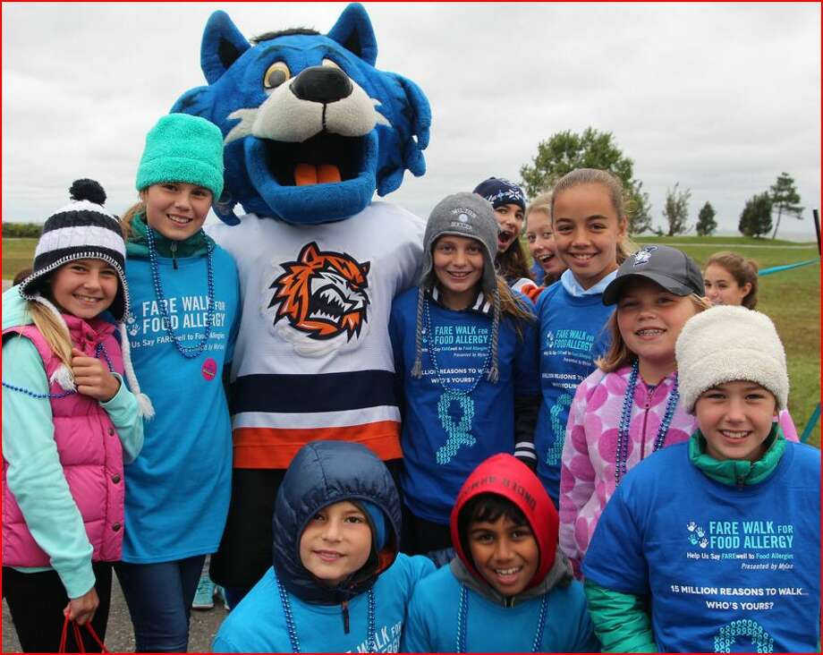 Some of the kids on the Wilton team for the FARE Walk for Food Allergy last year. Photo: Contributed Photo