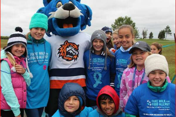 Some of the kids on the Wilton team for the FARE Walk for Food Allergy last year.