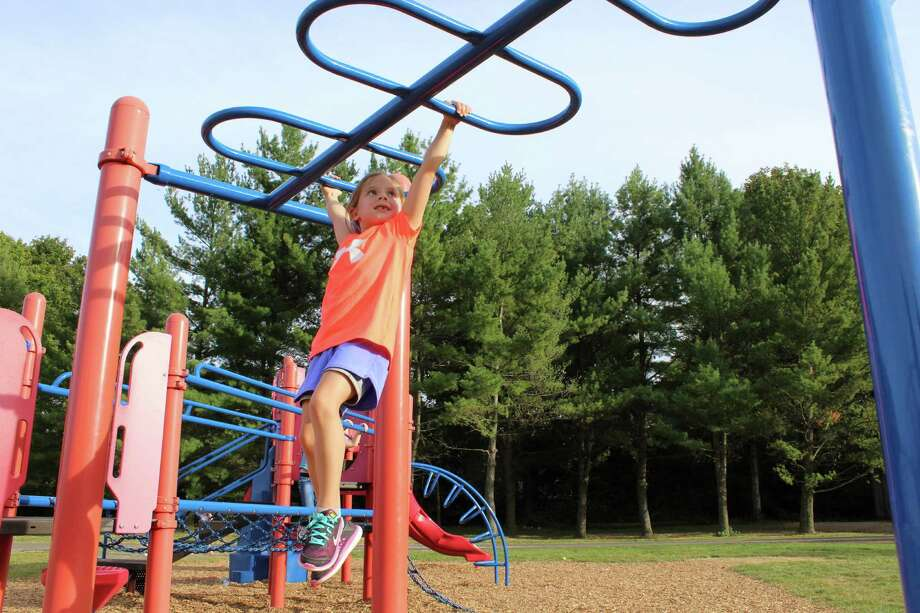 Local children will soon be playing on a brand-new playground as Miller-Driscoll enters the next stage of its renovation. Photo: Pat Tomlinson / Hearst Connecticut Media