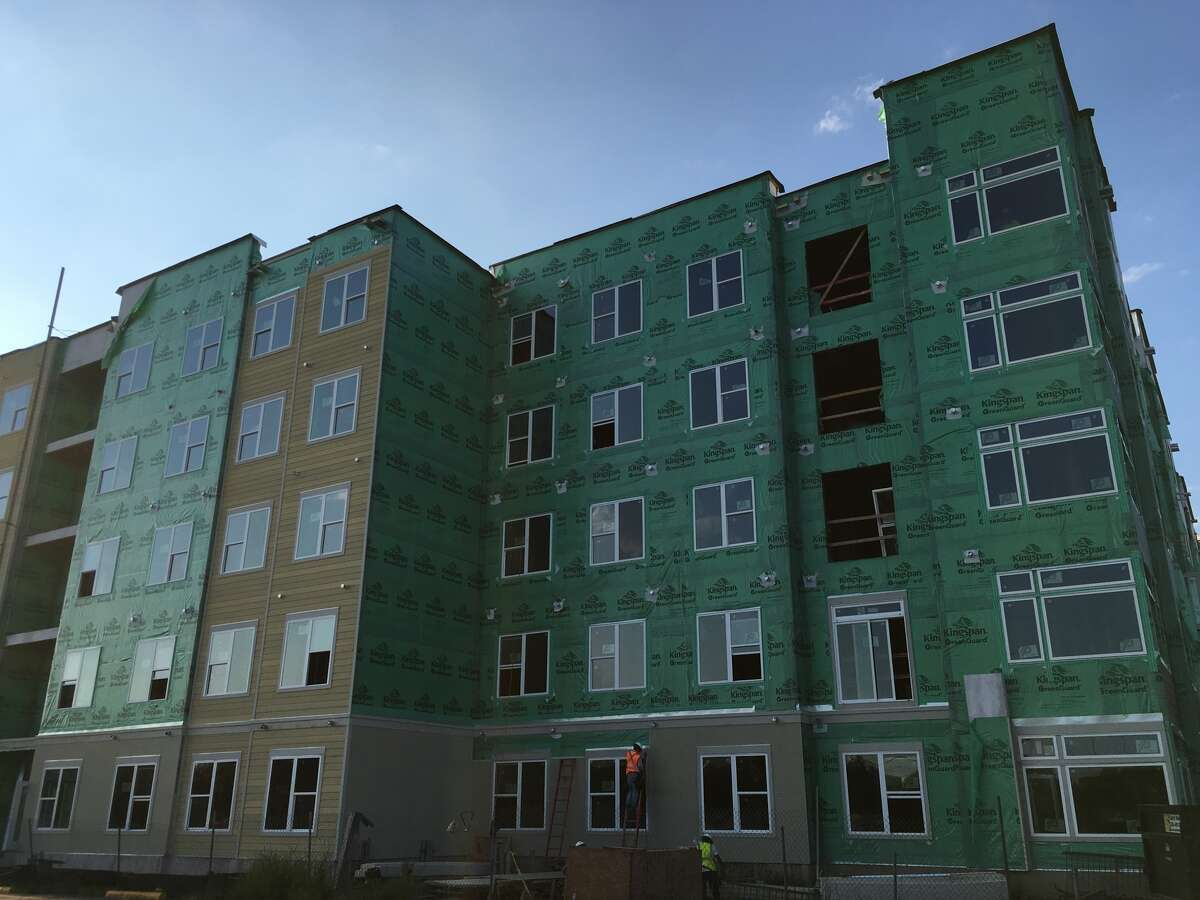 An apartment project on South Braeswood just inside Loop 610, is one of many complexes under construction in the Houston area.