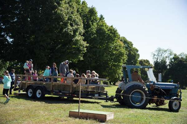 The hayride from last year's Ambler Farm Day.