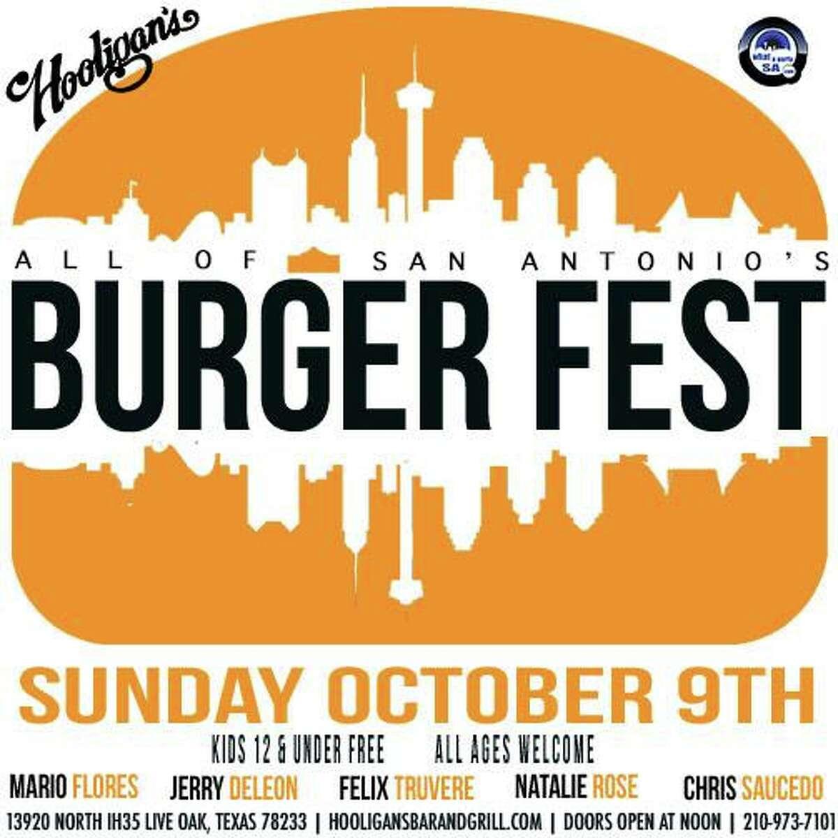 "DJ TonyC and WhatAPartySA will host ""All of San Antonio's Burger Fest"" at Hooligan's Bar anf Grill on Oct. 9, 2016."