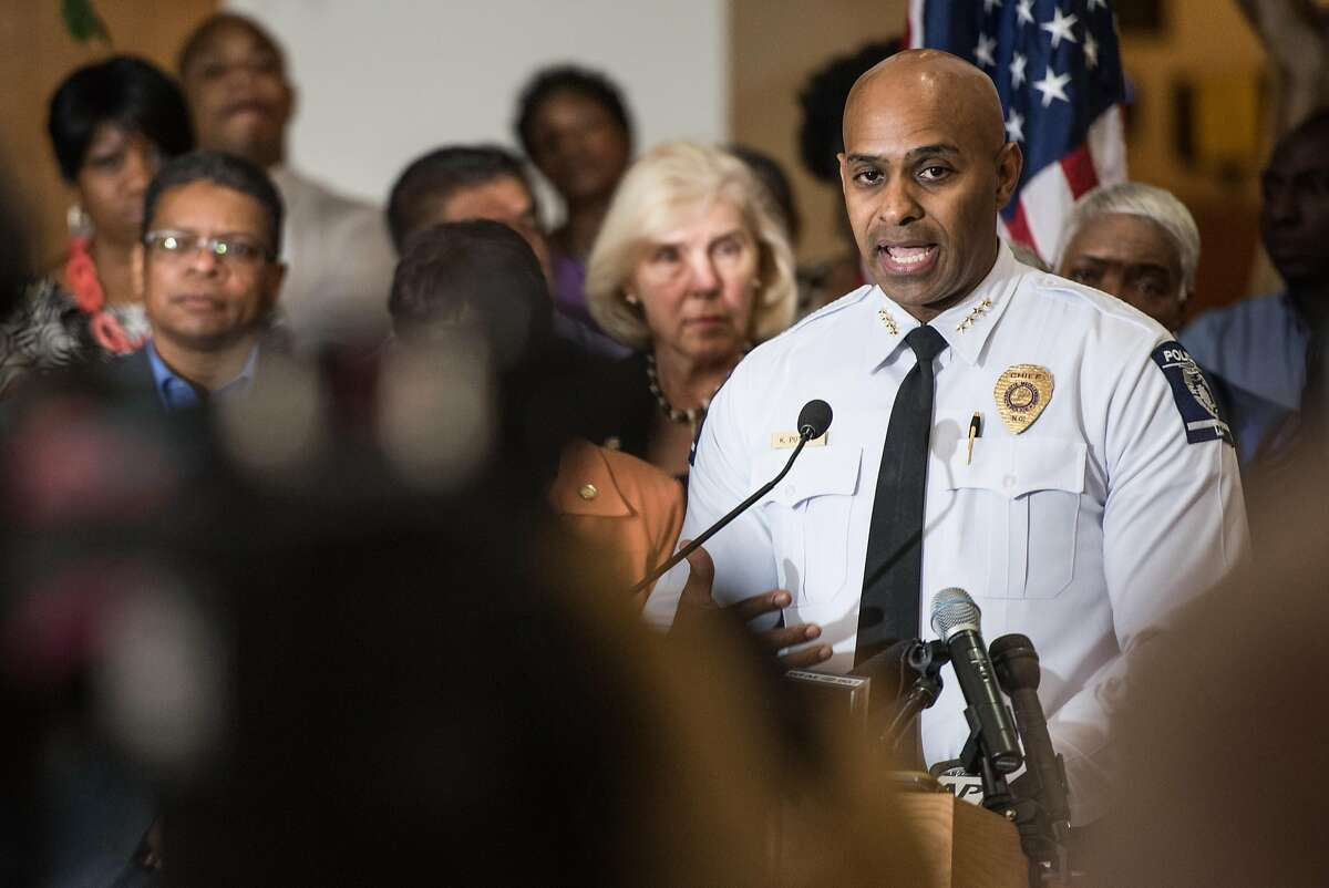 CHARLOTTE, NC - SEPTEMBER 22: Charlotte-Mecklenburg Police Chief Kerr Putney fields questions from the media September 22, 2016 in Charlotte, North Carolina. Protests began on Tuesday night following the fatal shooting of 43-year-old Keith Lamont Scott at an apartment complex near UNC Charlotte. (Photo by Sean Rayford/Getty Images)