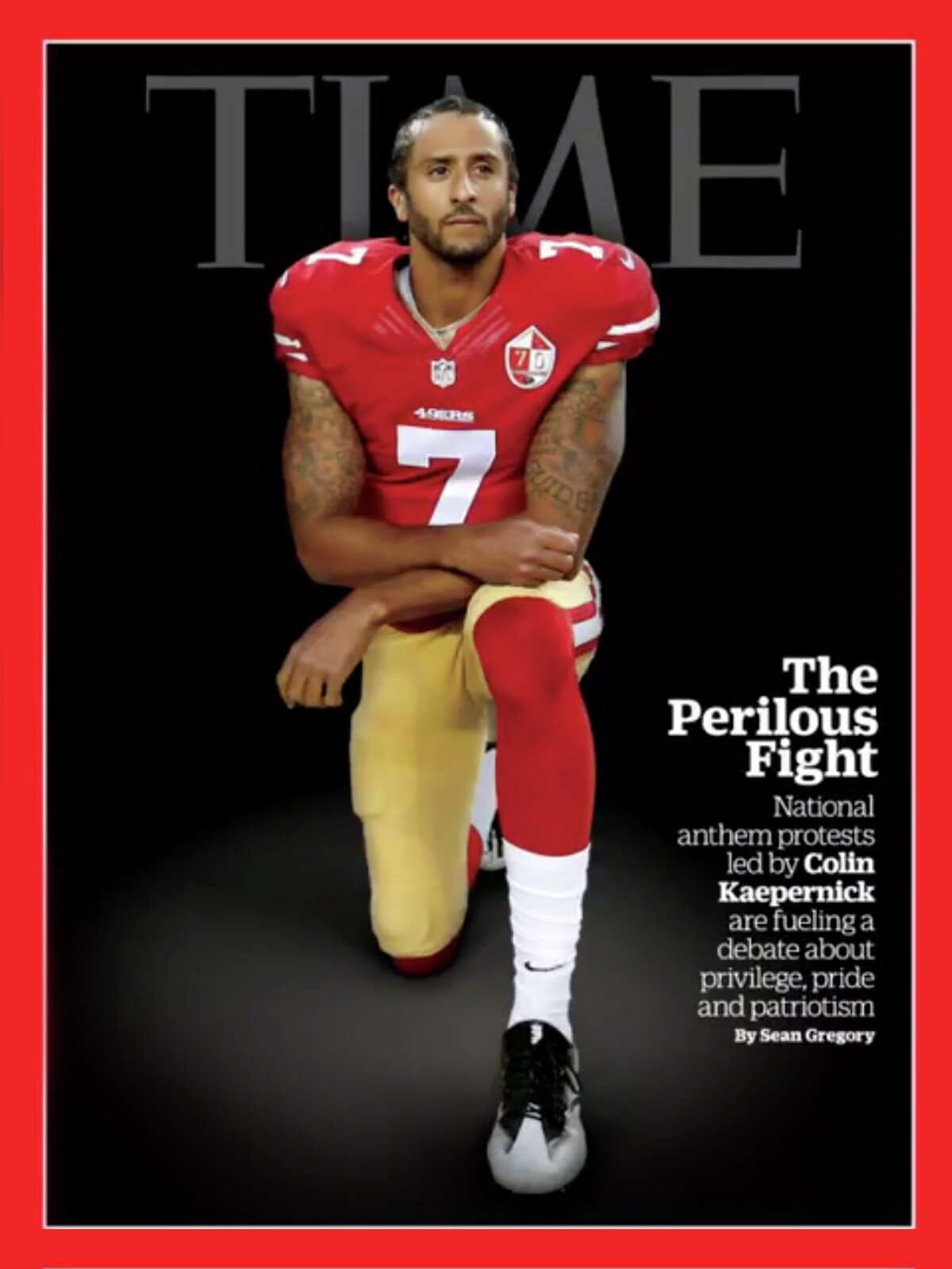 Colin Kaepernick on the cover of Time magazine.