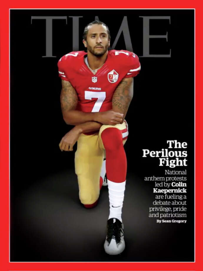 Colin Kaepernick on the cover of Time magazine. Photo: Time Inc.