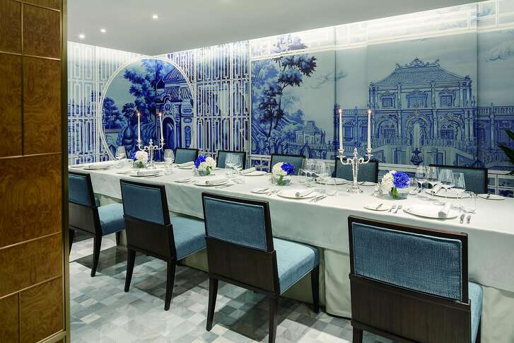 Jing restaurant, one of several dining outlets at the Peninsula Beijing, serves like modern Mediterranean fare, much of it from sustainable and organic sources, in a setting inspired by a secret Chinese garden.