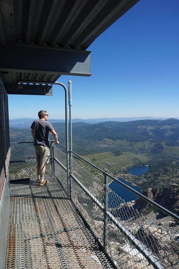 Standing on top of the world at the Sierra Buttes lookout. Photo: Andy Murdock, Special To The Chronicle