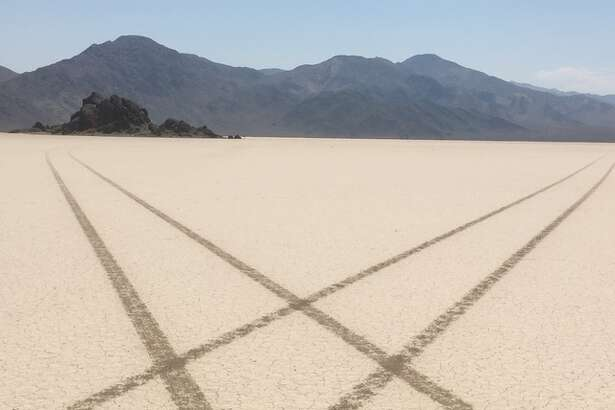 A photo from the National Park Service shows the damage done to Death Valley by vandals.